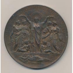 Médaille - Exposition universelle - Paris 1878 - cuivre - 87mm - Oudiné - TTB+