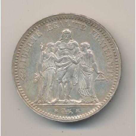 5 Francs Hercule - 1873 A Paris - argent - SUP+