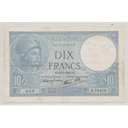 10 Francs Minerve bleu - 26.09.1940 - B.76416 - TTB
