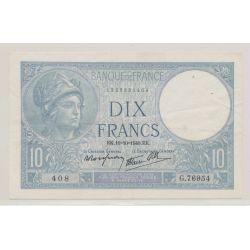 10 Francs Minerve bleu - 10.10.1940 - G.76954 - TTB+