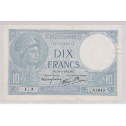 10 Francs Minerve bleu - 19.06.1941 - F.84615 - TTB+