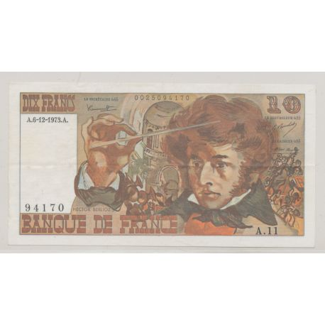 10 Francs Berlioz - 6.12.1973 - A.11 - TTB