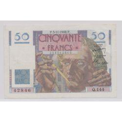 50 Francs Le verrier - 3.11.1949 - Q.144 - TTB+