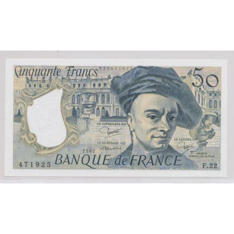 50 Francs Quentin de la tour - 1981 - F.22 - Neuf