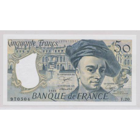 50 Francs Quentin de la tour - 1980 - F.20 - Neuf