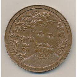 Médaille - Alfons Mucha - 1973 - bronze - 72mm