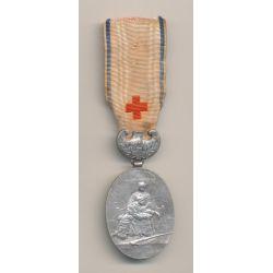 Médaille - Union des dames de France - Insigne infirmière - échelon argent