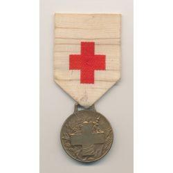 Médaille - Association dames françaises - médaille souvenir grande guerre - 1914-1918 - croix rouge - bronze