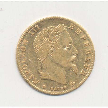 5 Francs Or - 1864 A Paris - Napoléon III Tête laurée - TTB+