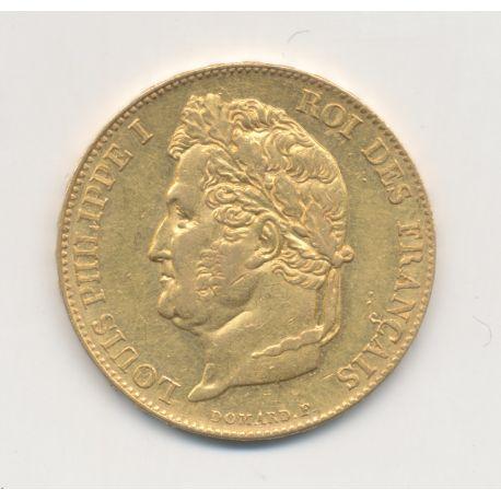 Louis philippe I - 20 Francs Or - 1833 A Paris - Tête laurée - SUP+