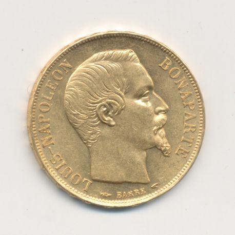 Louis Napoléon Bonaparte - 20 Francs Or - 1852 A Paris - SUP+