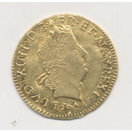 Louis XIV - Louis d'or aux insignes - 1704 N Montpellier - réformé - TTB+