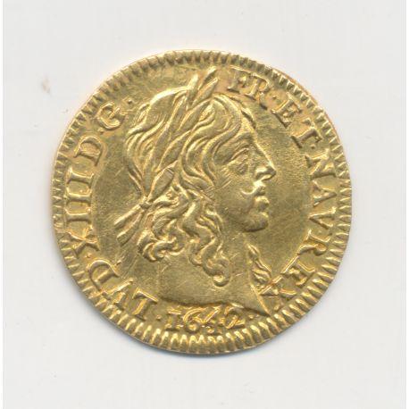 Louis XIII - 1/2 Louis d'or Warin - 1642 A Paris - TTB+/SUP