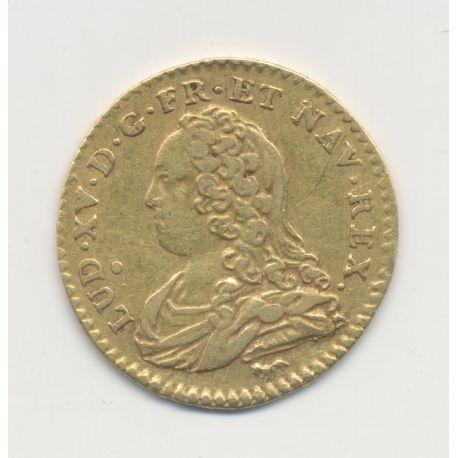 Louis XV - 1/2 Louis d'or aux lunettes - 1726 A Paris - TTB