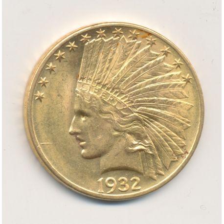 10 Dollars Or - 1932 - Tête d'indien - SUP