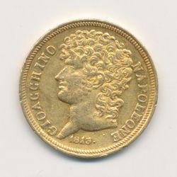 Italie - 20 Lire 1813 Rameaux moyens - Joachim Murat - sans point après date et point après date - TTB+/SUP