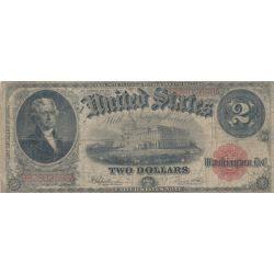 Etats-Unis - 2 Dollars 1917 - Jefferson