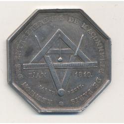 Jeton - Réunion des entrepreneurs de maçonnerie de Paris - 1810