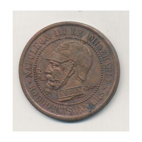 Monnaie satirique - Module 5 centimes - Napoléon III