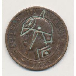 Monnaie satirique - 10 centimes 1853 W - casque à pointe