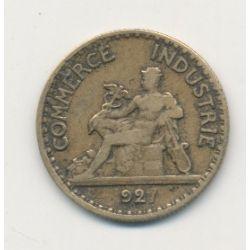 50 centimes chambre de commerce 1927 - coin bouché