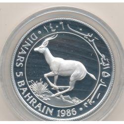 Bahrein - 5 Dinars 1986 - gazelle