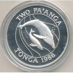 Tonga - 2 Pa'anga 1986 - baleines