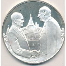 Médaille Hommage De Gaulle - De Gaulle et Eisenhower