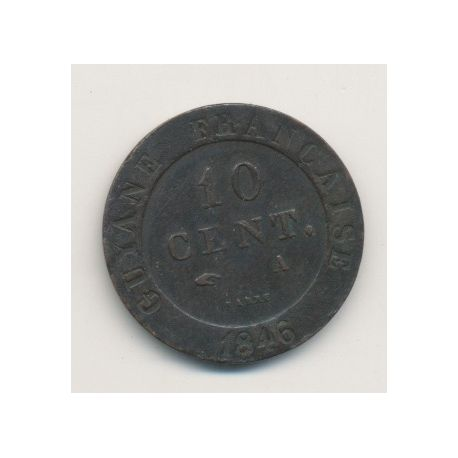 Guyane - 10 centimes - 1846 A