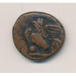 Indes Françaises - Cache de Pondichéry - 1836 coq