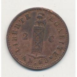 Haiti - 2 centimes - 1846