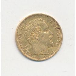 Napoléon III Tête nue - 5 Francs Or Petit module - 1854 A Paris