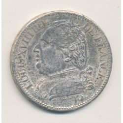 5 Francs Louis XVIII - Buste habillé - 1814 I Limoges