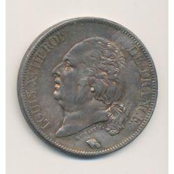 5 Francs Louis XVIII - Buste nu - 1822 A Paris