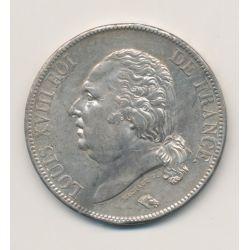 5 Francs Louis XVIII - Buste nu - 1823 A Paris