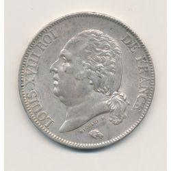 5 Francs Louis XVIII - Buste nu - 1824 H La Rochelle