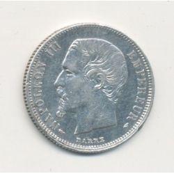50 centimes Napoléon III - 1855 A Paris - Tête nue - TTB+