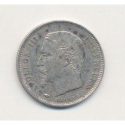 50 centimes Napoléon III - 1856 A Paris - Tête nue