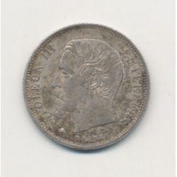 50 centimes Napoléon III - 1856 BB Strasbourg - Tête nue