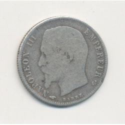 50 centimes Napoléon III - 1859 A Paris - Tête nue