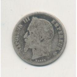 50 centimes Napoléon III - 1866 BB Strasbourg - Tête laurée