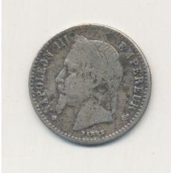 50 centimes Napoléon III - 1868 BB Strasbourg - Tête laurée - TB/TB+
