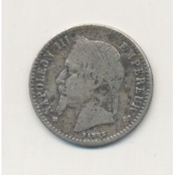 50 centimes Napoléon III - 1868 BB Strasbourg - Tête laurée
