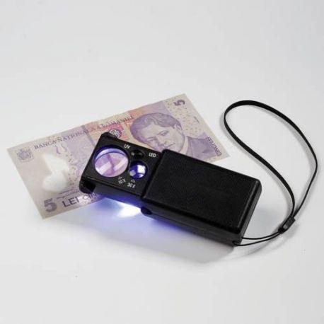 Loupe X10 avec LED et lampe UV