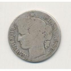 50 centimes Cérès - 1873 K Bordeaux - B/TB