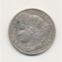 50 centimes Cérès - 1886 A Paris - TTB+/SUP