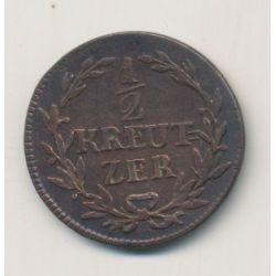 Allemagne - Baden - 1/2 Kreuzer - 1817