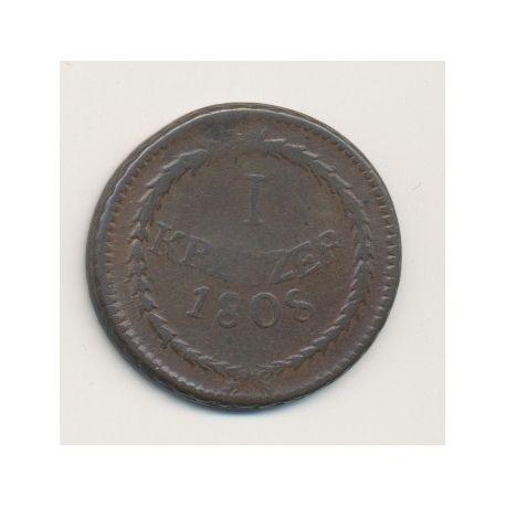 Allemagne - Baden - 1 Kreuzer - 1808