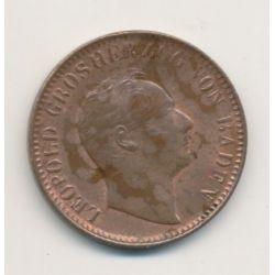 Allemagne - Baden - 1 Kreuzer - 1845