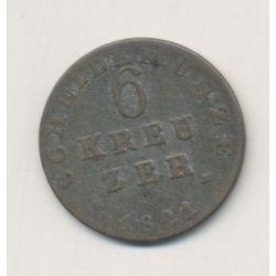 Allemagne - Hesse Darmstadt - 6 kreuzer - 1821
